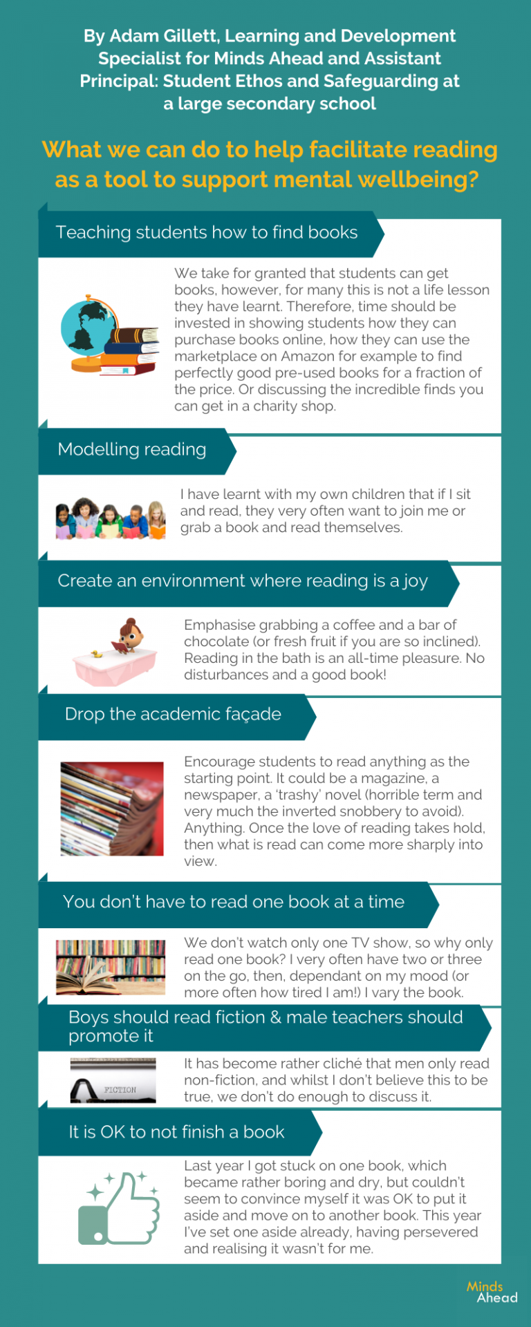 What we can do to help facilitate reading as a tool to support mental wellbeing